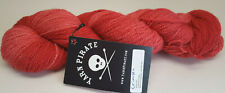 Yarn Pirate - Hand Painted Blue Faced Leicester Superwash Sock - Crimson