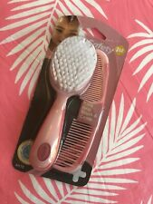 New listing Safety 1st Easy Grip Brush and Comb Baby Pink New