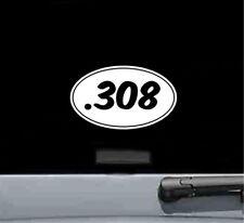 .308 oval STYLE5 5x3 ammo bullet rifle ar10 vinyl decal sticker bumper car truck