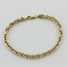 Ankerarmband 4mm 585er Gelb Gold Poliert Goldarmband 14 Karat Damen Herren