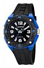 Calypso By Festina Pulsera Reloj de Hombre Análogo Negro/Azul Luz 10 Atm K5634/3