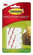 Command Poster Hanging Strips, Small, White, 12-Strips (17024ES)