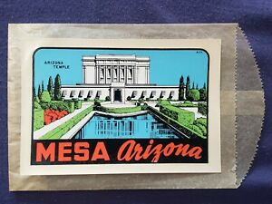 VTG LINDGREN BROTHERS Mesa AZ Mormon LDS Temple travel window auto decal sticker