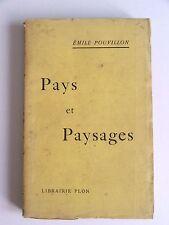 ÉMILE POUVILLON : PAYS & PAYSAGES / LIBRAIRIE PLON