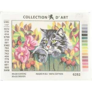 Collection D'Art Needlepoint Printed Tapestry Canvas 30X40cm Ligh 499994427366