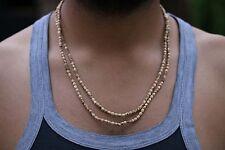 Tulsi Beads Mala - Double Round Tulsi Seed necklace- Krishan Tulsi Basil Mala