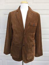 Hart Schaffner Marx Leather Suede Blazer Small Brown