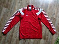Adidas Command Jacket Basketball Trainingsjacke Jacke Größe S Rot NEU