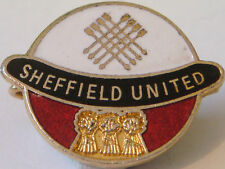 SHEFFIELD UNITED FC Vintage Badge Maker COFFER LONDON Brooch pin 26mm x 21mm