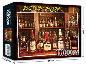 Jigsaw Puzzles 1000 Pieces Bourbon Whisky Learning Toy Game for Adults Gift