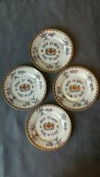 "Antique Chinese Export Style Famille Rose Armorial 4 Plates 8"" Samson Detailed"