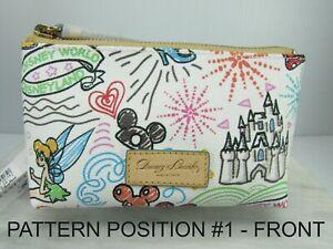 DOONEY & BOURKE SKETCH Disney COSMETIC CASE Bag Clutch MICKEY MINNIE TINKER BELL