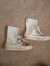 Roxy Grey Canvas High Tops Trainers Size 5