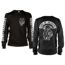 Officially Licensed Sons Of Anarchy Backpatch Long Sleeve T-Shirt  S-XXL Sizes