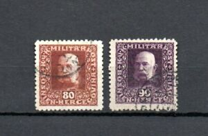 Bosnia Herzegovina 1916 Def. stamps (Michel 111/12 B) perforation 11.5 nice used