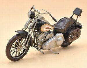 Handmade Indian Motorcycle 1:8 Tinplate Antique Style Metal Model Superb Artwork