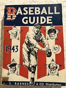 1943 Baseball Guide Boston Red Sox TED WILLIIAMS New York Yankees JOE DIMAGGIO