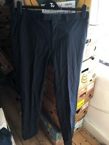 Marks and Spencer Autograph 36W 35L Blue Tailored Trousers (A3)