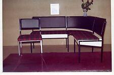 PUBBLICITARIA-foto mobili panca rosso a quadri 1950er Tromlitz-mobili per sedersi Hannover
