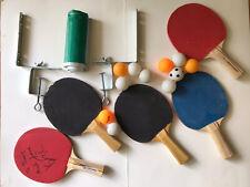 Ping Pong Paddle Set Net 5 Paddles 11 Balls Table Tennis