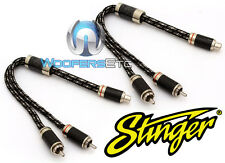 Stinger SI92YM 1-Buchse 2 Stecker 9000 Kabel Querschnitt Y RCA Interconnect Kabel