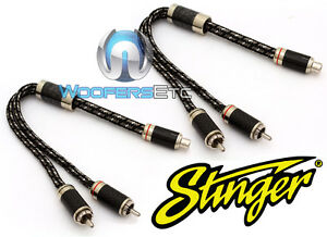 STINGER SI92YM 1-FEMALE 2-MALE 9000 CABLE CROSS SECTION Y RCA INTERCONNECT WIRES