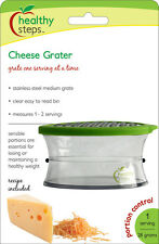Jokari Healthy Steps Portion Control Cheese Grater w/ Measuring Container
