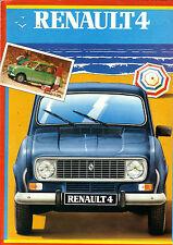 Dépliant RENAULT 4  R4  4L  En Hollandais   1984  prospectus catalogue brochure