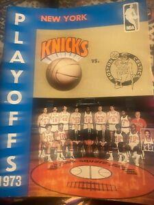 NEW YORK KNICKS 1973 vs BOSTON CELTICS PLAYOFFS Program Madison Sq