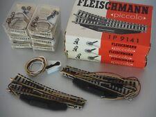 Fleischmann Piccolo Nr.1 coppia sx+dx di scambi elettrici art.9141 + nr.2 6900