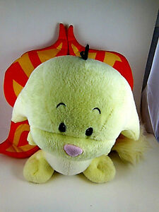 """Kacheek With Wings Talking  Neopets Faerie 10"""" Yellow animated AWESOME"""