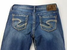 "Silver Jeans LOLA 17"" L9315SLT369 Womens Denim Pants sz tag W29 L30 actual W30"