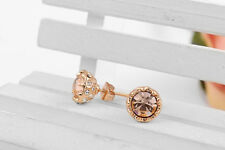 ROXI Exquisite AAA Zircon stones Rose gold plated cute lotus earrings SHIP USA