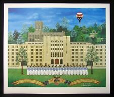 US Military Academy West Point NY LE Numbered Print by Jane Wooster Scott w/COA