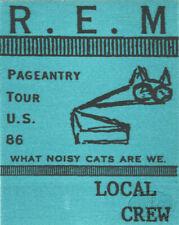 R.E.M. 1986 Pageantry Tour Crew Backstage Pass blue