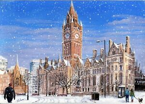 St Ann's Hospice Charity Christmas Cards 'Snowy Manchester' Pack of 10 Cards