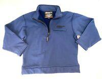 POLARTEC Boulder Gear Shirt Size M Blue Warm Base Layer Zip Neck Pullover