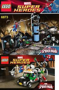 Lego Superheroes BUNDLE 6873 (Spiderman Doc Ock) & 76015 (Truck Heist) -100% C