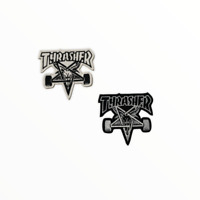 Thrasher Skate Board Logo Iron on Sew on Embroidered Patch Badge For Clothes Etc