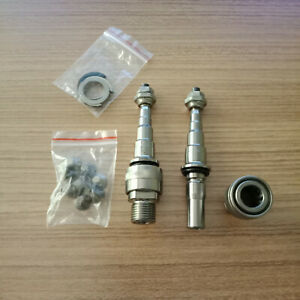 MKS TITANIUM QUICK RELEASE AXLES , ADAPTERS FOR EZY SUPERIOR PEDALS - BRAND NEW