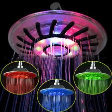 Kopfbrause Duschkopf Duschbrause Regenbrause Handbrause 8'' LED Farbwechsel N22
