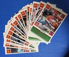 1986 McDonald's DETROIT LIONS Team Set, Complete (24 cards), Green Tabs Intact