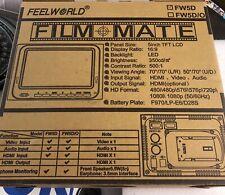"""FeelWorld Film Mate FW5D/0 5"""" TFT HD Camera Tap LCD HD Monitor Screen HDMI BNC"""