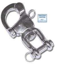 Verschluss Schnellverschluss 7cm für Hundeschlitten 4x Edelstahl Patenthaken