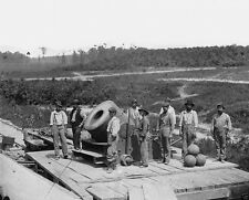 Union 13 Inch Mortar Cannon Gun Crew Petersburg Virginia 8x10 US Civil War Photo