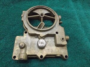 1958 Chevy NOS Rochester Carb Air Horn Lid Top 2 Barrel Small base Two Jet 2gc