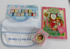 Rare! Lot-  Lee Middleton Doll Bib, Life's little Lessons Book, Toy Cereal Box