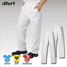 CARGO PAINTERS WORK PANTS TROUSERS IN 100% COTTON DRILL HEAVY WEIGHT WORKWEAR