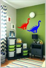 personalised vinyl decal sticker dinosaur wall art name bedroom door