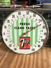 """Vintage, original 1950's 7UP advertising sign / thermometer, 10"""", works, rare"""